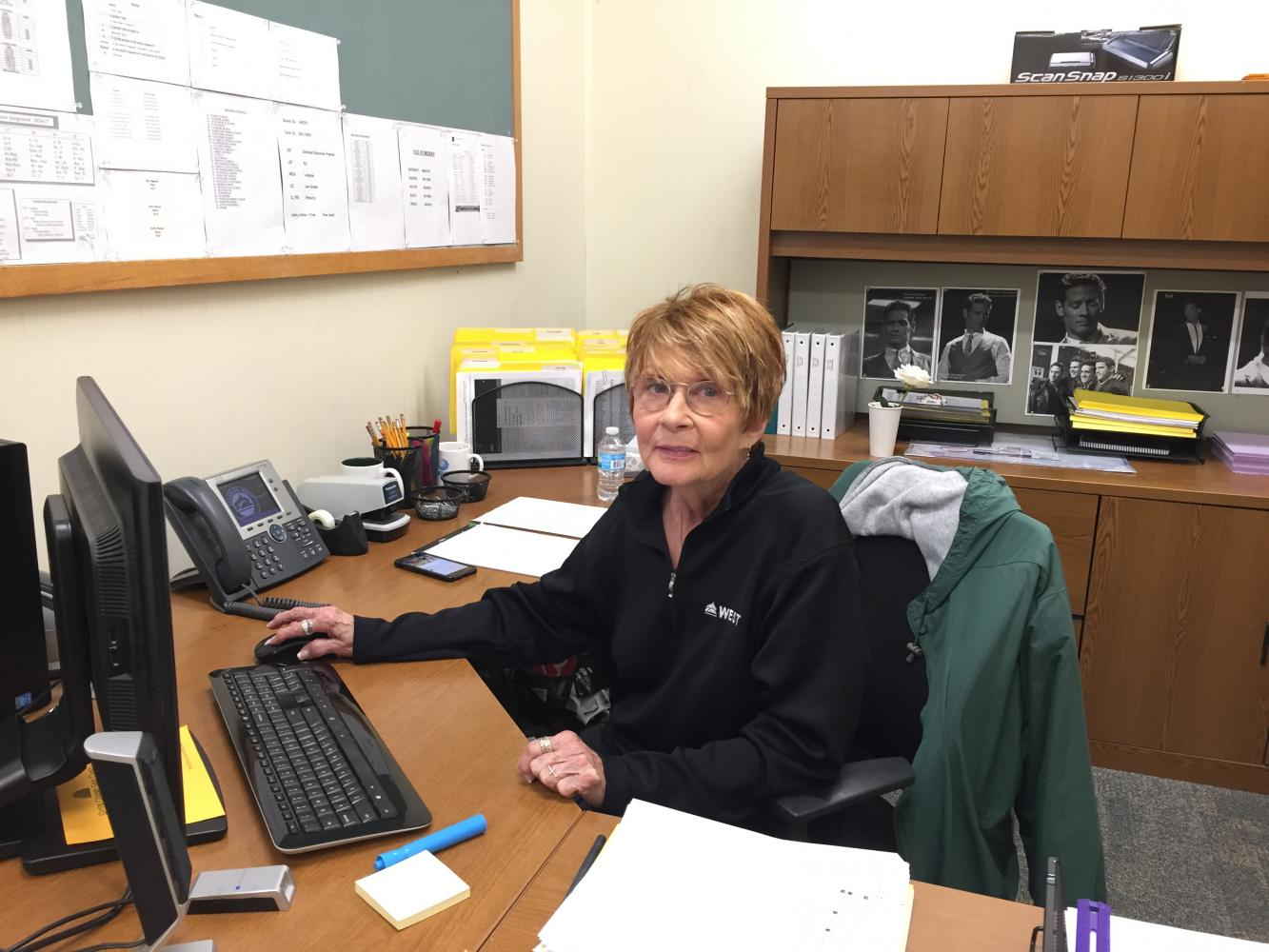 Mrs. Dawrant has been a data entry specialist at Glenbard West for almost 35 years.