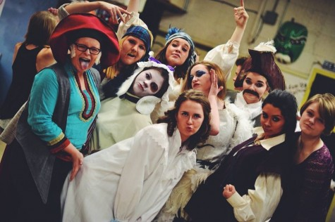 Peter Pan cast poses backstage in costume at the 2014 show
