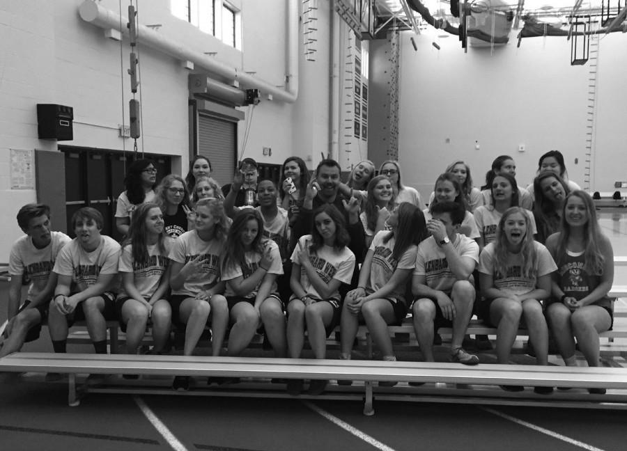 Mr. Sigmunds class poses in a goodbye tribute image.