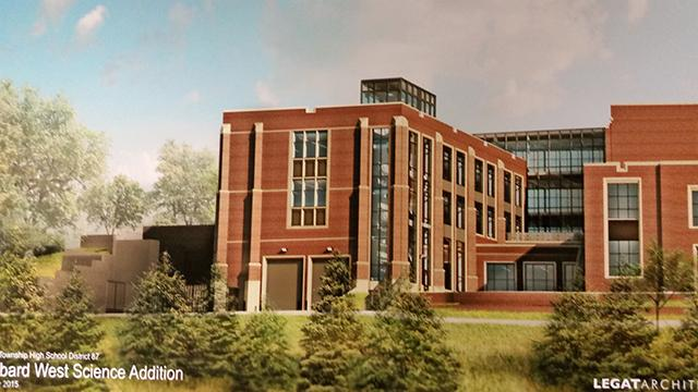 This is the proposed design for the new science wing.