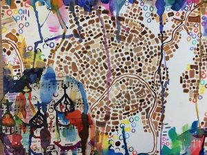 Alex Farmer, Sophomore, creates a vibrant colored map depicting
