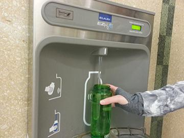 New water fountains around the school have saved 167,645 bottles from landfills.