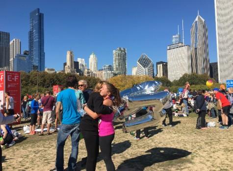 Alli Stein after running the Chicago marathon. Photo courtesy of Alli Stein.