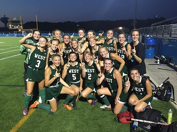 Field Hockey is all smiles after their win in the Lake Forest Tournament