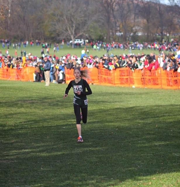 Graham running during a cross country race