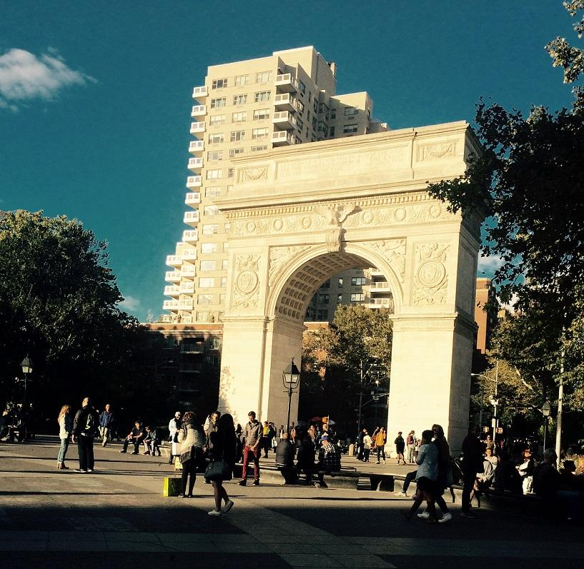 """""""The center fountain Washington Square park is my favorite spot. In the summer it's a fountain, in the winter there is always a sort of performance going on there. Its really just a beautiful centerpiece to an awesome school,"""