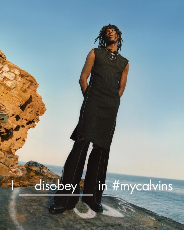 Calvin Klein ad featuring Young Thug.