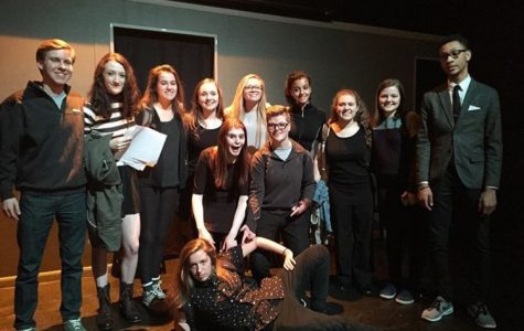 Paige's Second City class after their performance