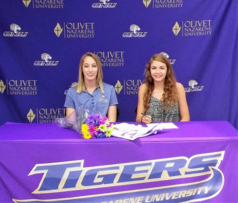 Katherine Porter becomes an official Olivet Tiger at her signing