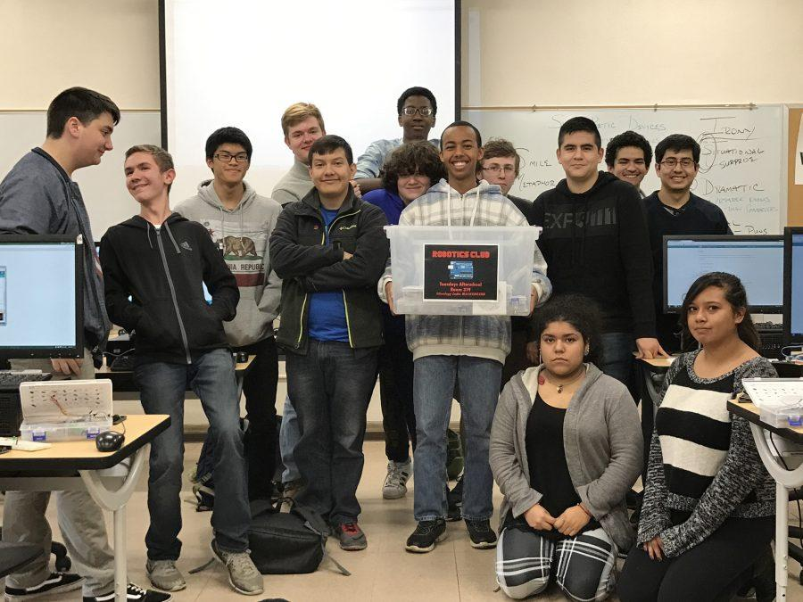 Members of Robotics Club