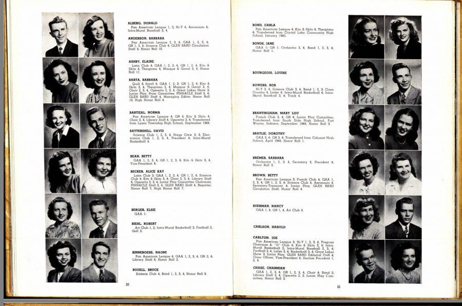 Students from the class of 1946.
