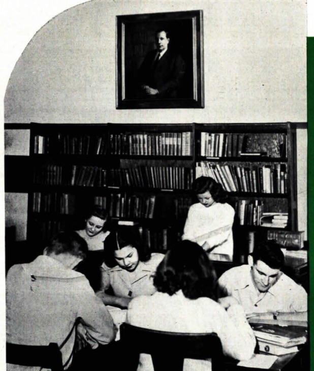 Students studying in the library in 1946.