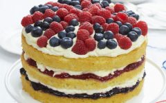 A delicious layer cake from the show, The Great British Baking Show