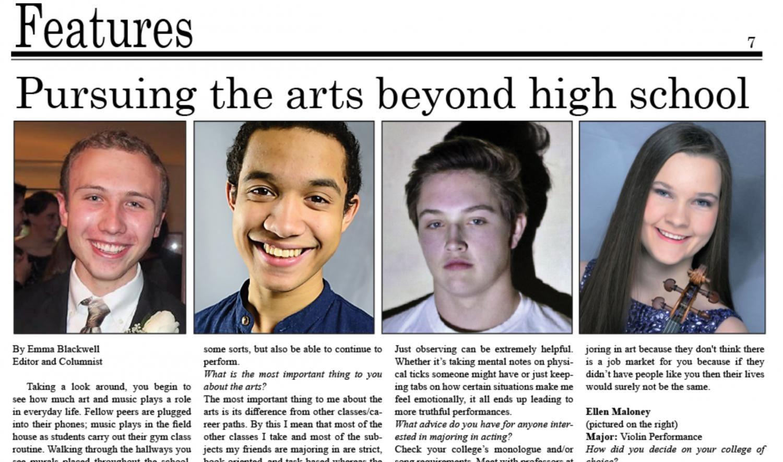 Pursuing the Arts Beyond High School