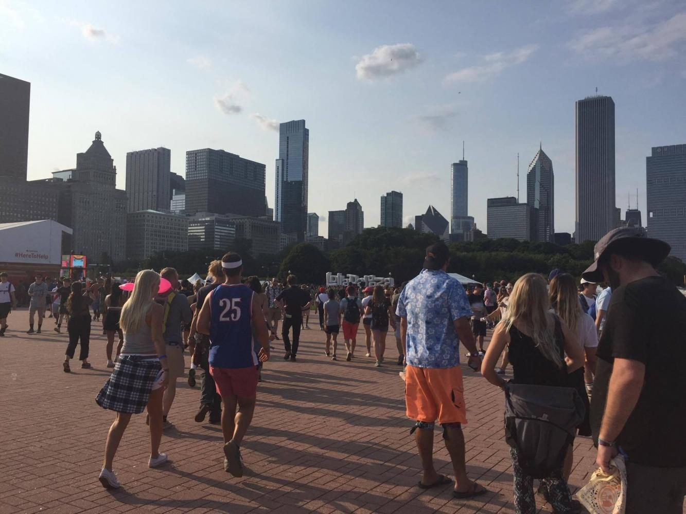 City skyline at Lollapalooza.