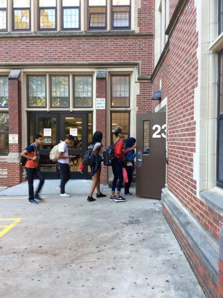 Students entering Glenbard West