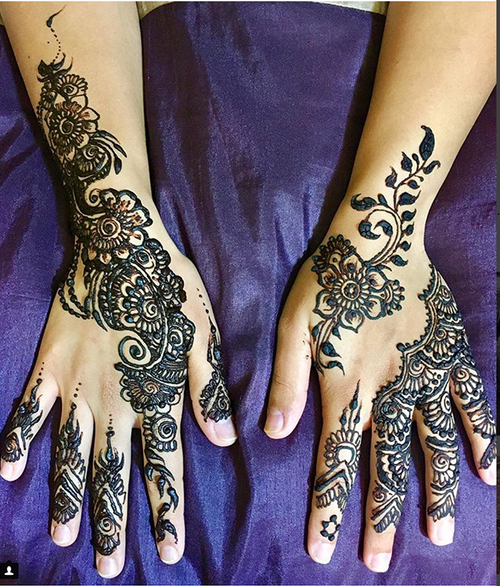 Now used for more decorative purposes, hennas can be applied to the hands, feet, nails and even hair.