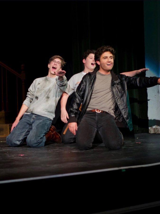 Brennan (front) performing in Footloose!