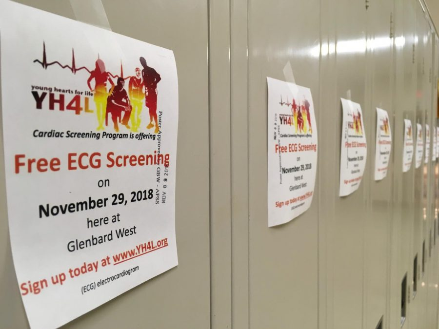Information about the ECG Screenings have been hung on students lockers around school.  Make sure to register in advance at www.YH4L.org.