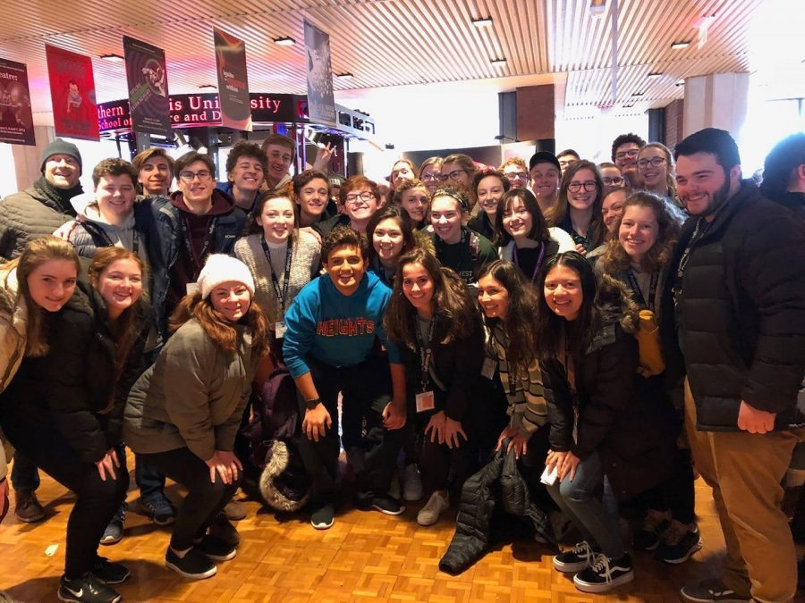 Glenbard+West+Thespians+after+seeing+the+all-state+show+In+The+Heights+featuring+Glenbard+Wests+own+Brennan+Dougherty