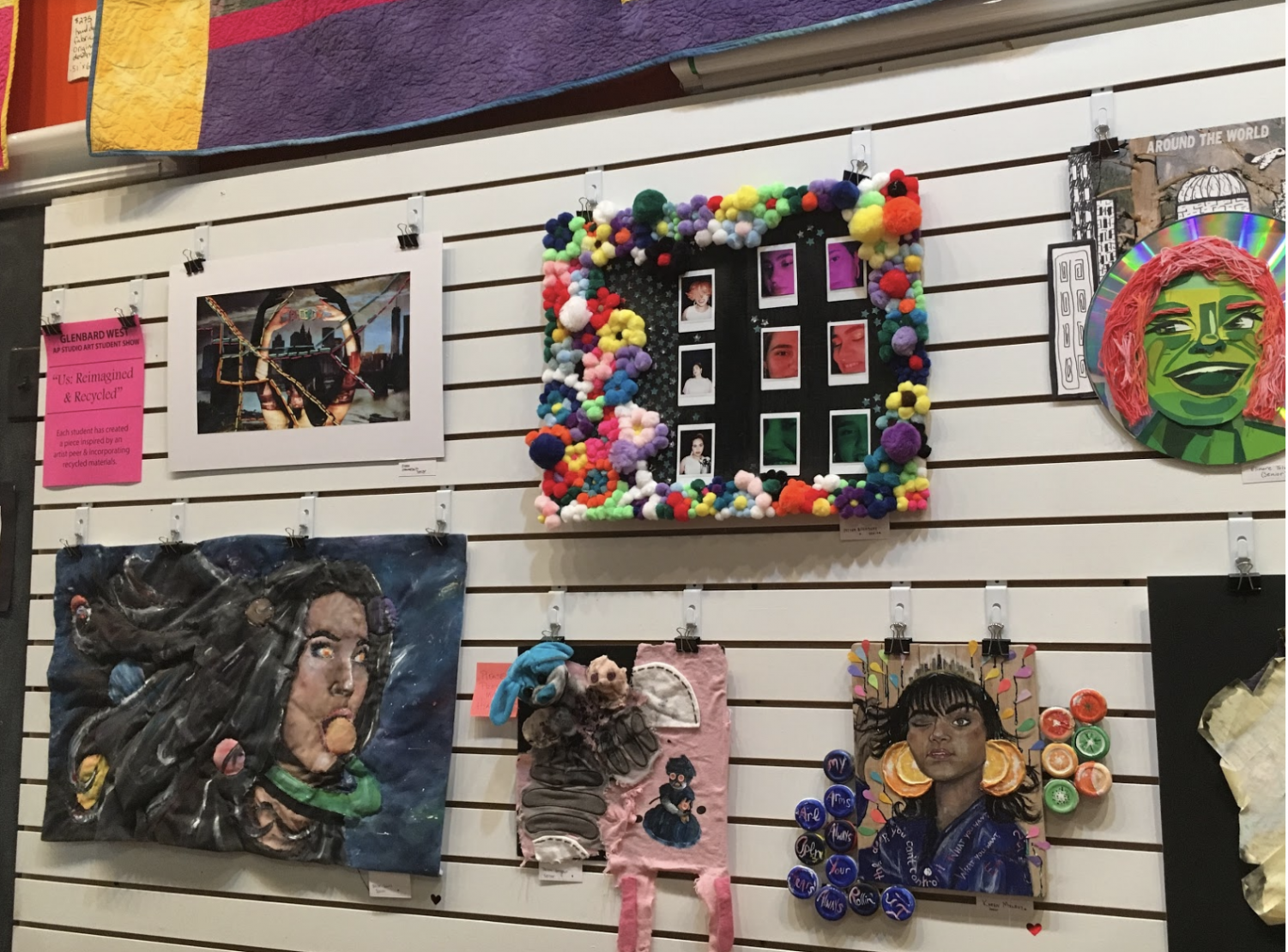 Art Pieces done by the GBW AP Art Students that are currently on display right now at the heARTfelt Gallery. These art pieces are also available for purchase to the public.