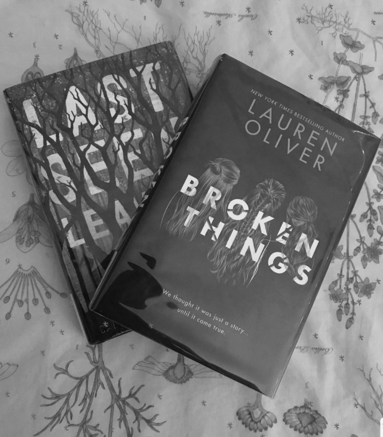 Pictured from left to right are the must-read books Last Seen Leaving and Broken Things, written by Caleb Roehrig and Lauren Oliver respectively.