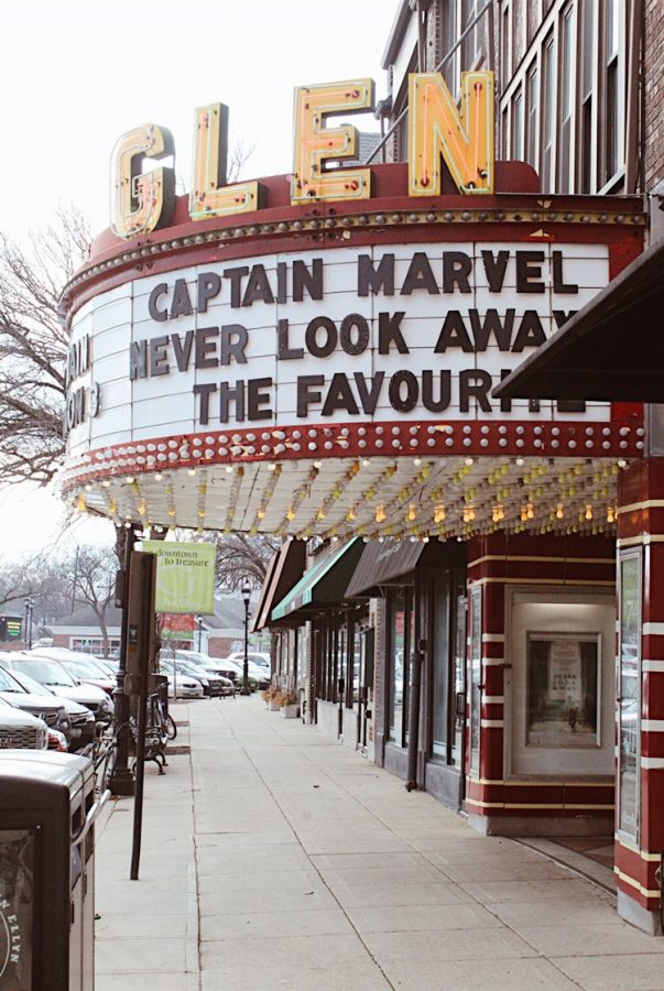The iconic marquee of the Glen Art Theatre is a landmark of downtown Glen Ellyn. Since its opening in the 1920s, the Glen Art Theatre has served Glen Ellyn moviegoers with classic films to modern day hits, even getting its own feature in the movie Lucas.