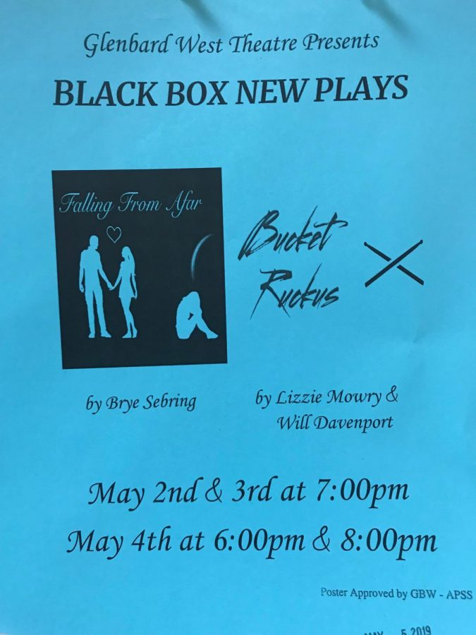 Picture is a flyer for the Black Box plays.