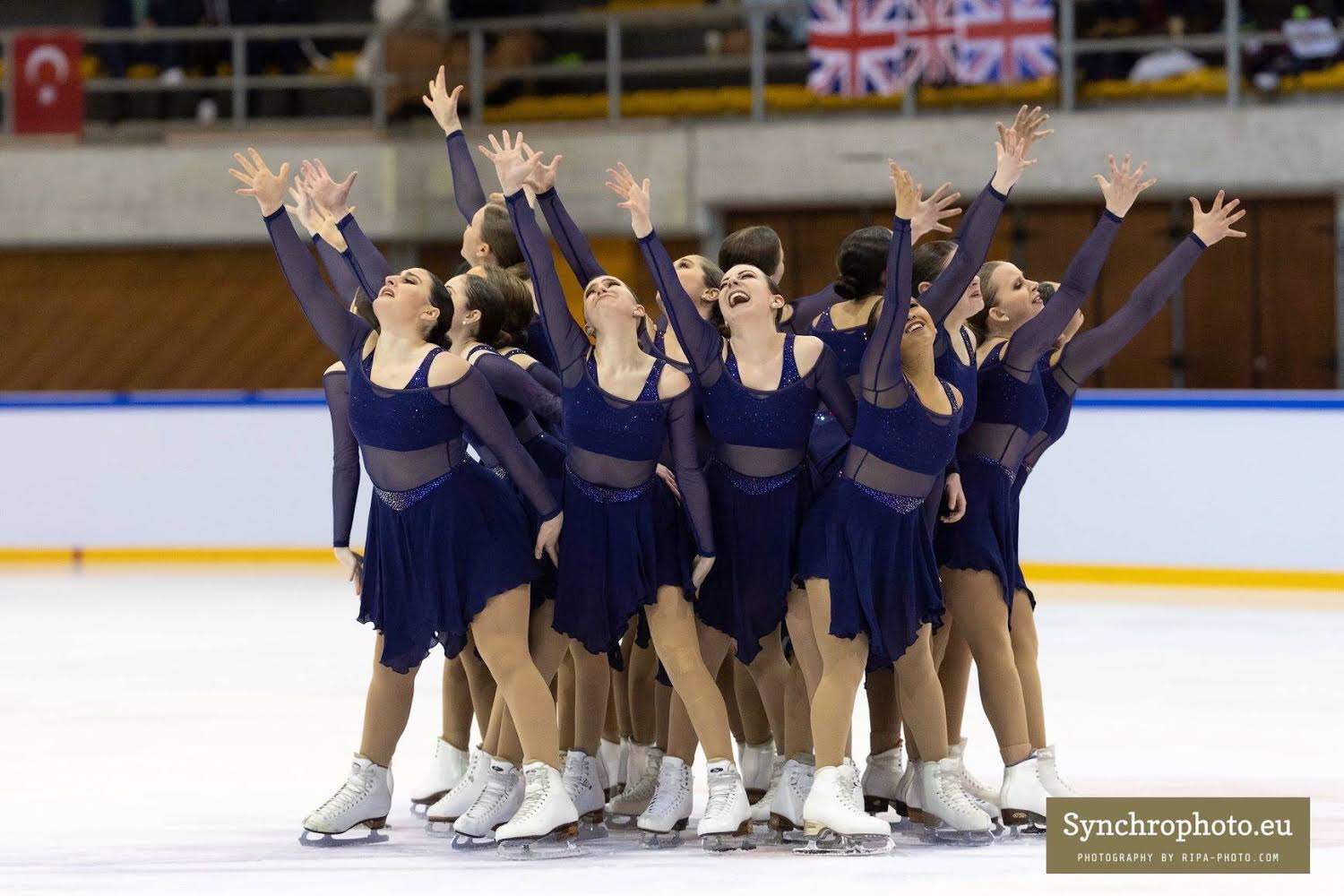 West Sophomore and Her Synchronized Skating Team's