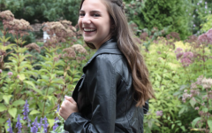 Ava Batz, black leather jacket; Collection B