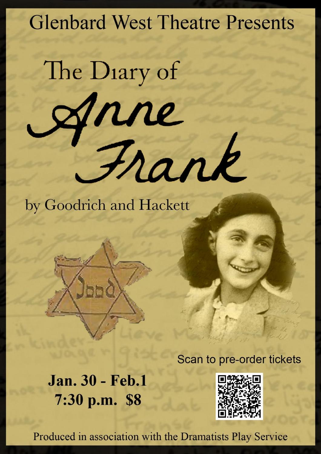 A poster created by the student-ran business team publicizing the upcoming winter play,