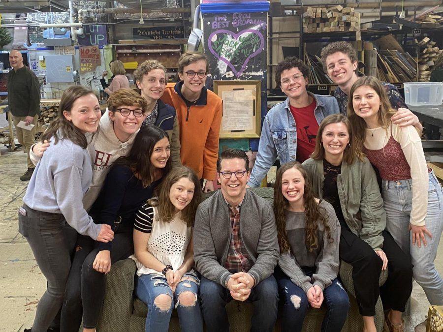 Sean Hayes visits the Glenbard West Auditorium along with members of Theatre Club.  Hayes was a part of the theatre program when he attended West as a graduate of the class of 1988.